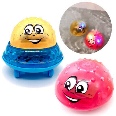 Infant Electric Induction Water Spray Toy Kids Ball Light Bath Play Water Toy