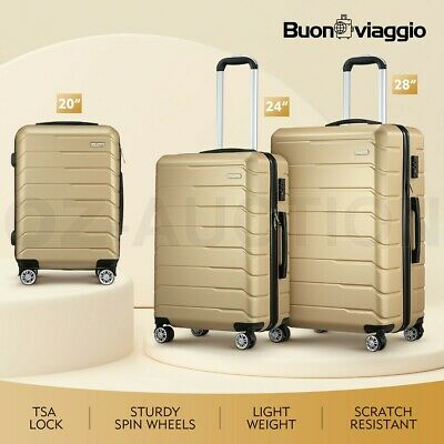 Buonviaggio 3PCS Luggage Suitcase Trolley Set Hard Case Travel Storage Organizer