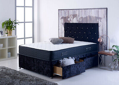 Magic Divan Bed Set With Mattress+HEADBOARD, Double, King Size and Free Delivery