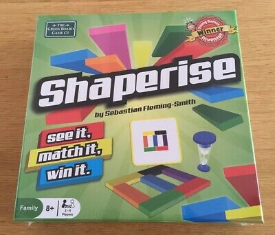 The Green Board Game Shaperise, New And Sealed. 2-4 Players Age 8+ Xmas 🎁