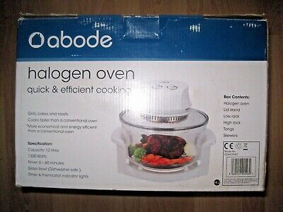 Abode halogen oven, 12 litre capacity 1300W for Quick and Efficient Cooking