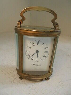 Brass Oval Carriage Clock