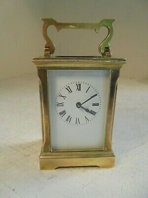 Antique Brass Oval Carriage Clock