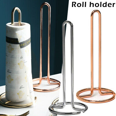 Vertical Metal Kitchen Toilet Roll Paper Towel Rack Stand Holder Dining Table