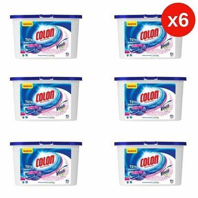 6x  Detergente lavadora Colon Total Power Gel Caps Vanish 6x12 (72 dosis)
