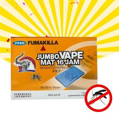 FUMAKILLA MOSQUITO KILLER REPELLER PAD MAT 16 HOURS THERMACELL REFILL 39-360pcs