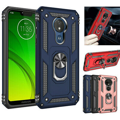 For Motorola Moto G7 Plus/Power/Play /G7 Optimo Magnetic Ring Stand Rugged Case