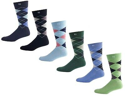 FJ FootJoy Men's ProDry Fashion Crew Argyle Golf Socks