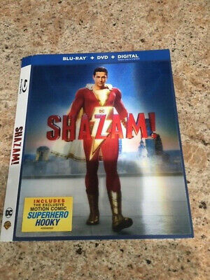 Shazam! (2019) - Blu-ray Holographic Slipcover ONLY - NO DISCS
