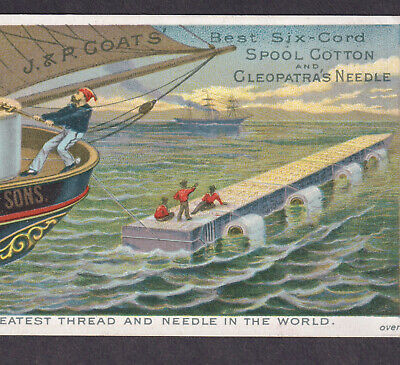 Cleopatras Needle 1880 Move to New York City Coats Sewing Thread Obelisk Card