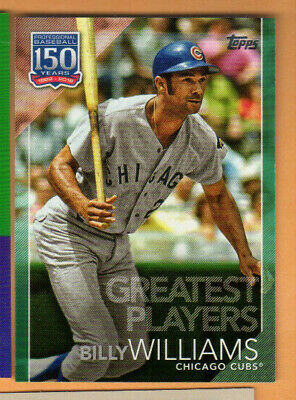 2019 Topps Baseball - Series 2 - 150th Green Parallel - Billy Williams - Chicago