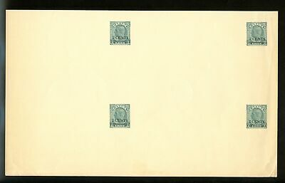 Lot 77114 Canada Ux72 Uncut Block Of 4  Postal Stationery King George V1