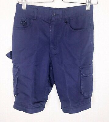 BOY SCOUTS OF AMERICA Youth 10 Uniform Shorts Cargo Switchback BSA Navy DEFECT