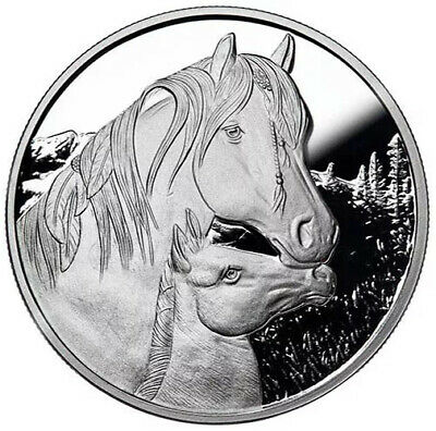 Lisa Parker Collection 750 Minted Proof Apache Horse 1 oz Silver 999 Fine Coin