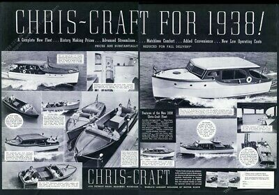 CHRIS CRAFT MOTOR BOATS VINTAGE 2x4 reproduction OLD SCHOOL