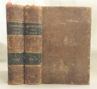 1849 antique victorian INFO ENCYCLOPAEDIA cookbook superstition phrenology bees+