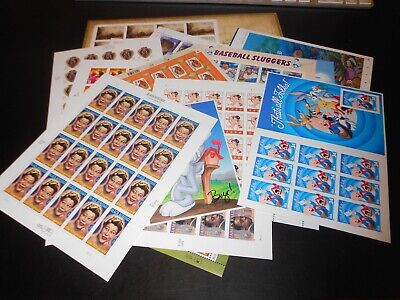 Lot of U.S.Postage Stamps, Cheap Postage. 16 Sheets, Face Value $108.50