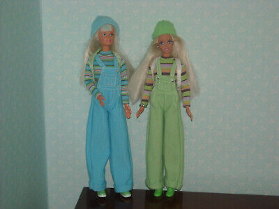 Vintage Barbie Dolls. Cool Colours Barbie & Teen Skipper Doll. Dungaree Outfits.