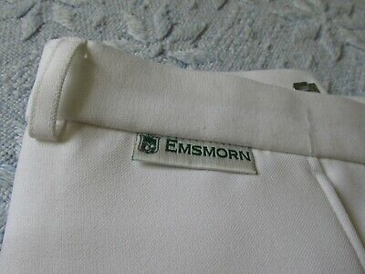 Men's Emsmorn Lawn bowls white trousers . very good condition size 40 x 29