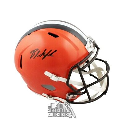 2f4683b1 BAKER MAYFIELD CLEVELAND Browns Autographed Riddell Speed Mini ...