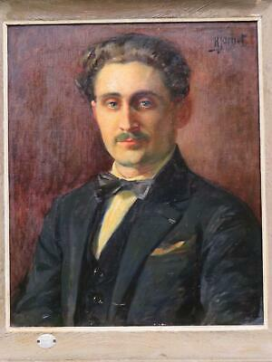 Superb Henri Pierre Jamet Portrait of Paul Bouzy 1913 French Wine Maker