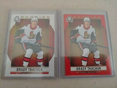 2018-19 UD OPC Coast To Coast Canadian Tire Red Parallel Rookies Brady Tkachuk