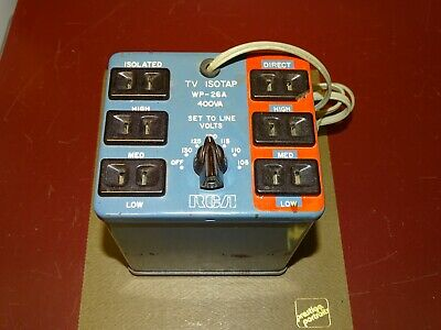 Vintage RCA TV ISOTAP Isolation Transformer WP-26A