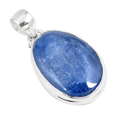 21.48cts Natural Blue Kyanite 925 Sterling Silver Pendant Jewelry P8611