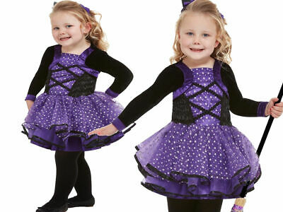 Punk Witch Wicked Black Pink Cute Fancy Dress Up Halloween Toddler Child Costume