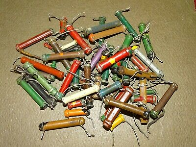 Group of Early Dog-Bone Resistors for Authentic Radio Restorations