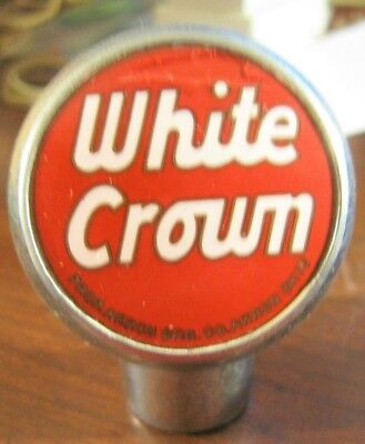 Vintage White Crown Beer Ball Tap Knob Handle Akron Brewing Co Akron Oh Ohio