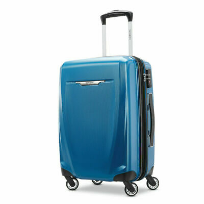 "Samsonite Winfield 3 DLX Spinner 25"" Checked Luggage - (Blue) - (120753-1112)"