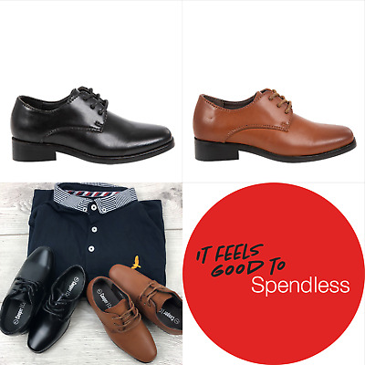 NEW Spendless Boys Kieran Cooper Cohen Laced Rounded Toe Formal Dress Shoes