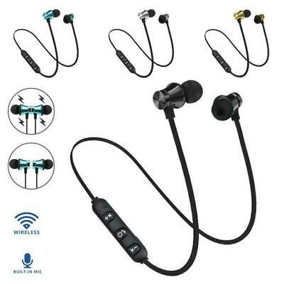 Cool bluetooth4.2 Earphone Headset Wireless Stereo Magnetic Earbud Fit All Phone