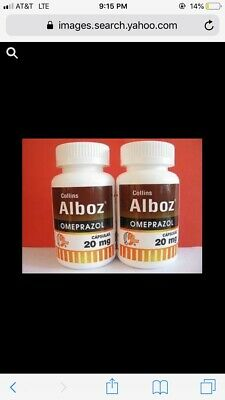 Alboz Omeprazol 20mg (Heartburn Medication) 2 Bottles (120 Capsules) Exp Nov 21