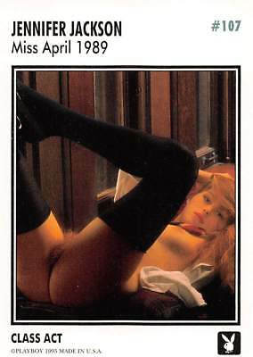 Playboy 1995 Trading Card Jennifer Jackson Miss April 1989 #107