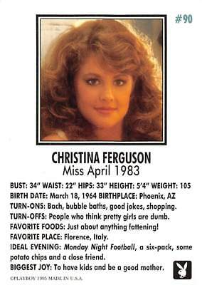 Playboy 1995 Trading Card Christina Ferguson Miss April 1983 #90