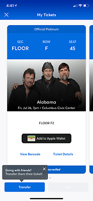 Tickets, Alabama Band, Columbus GA, July 26, 2019, 7PM