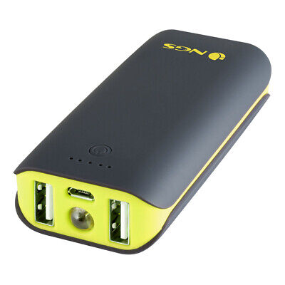 NEW! Ngs Powerpump Duo 4400 Universal Powerbank With Two Usb Ports for Tablets A