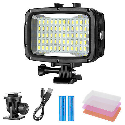 Underwater Lights Dive Light 60 LED Dimmable Waterproof LED Video Light