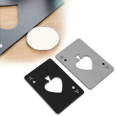 Metal Outdoor Poker Playing Cards Throwing Toy Creative Bottle Opener Kitchen