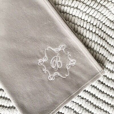 Personalised Luxury Baby Blanket Crown Embroidered Boy Girl Birth Gift New
