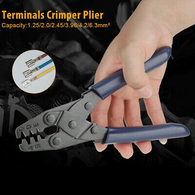 DR-1 Cable Wire Terminal Crimper Ratcheting Crimping Plier Cutter Tool Kit Set