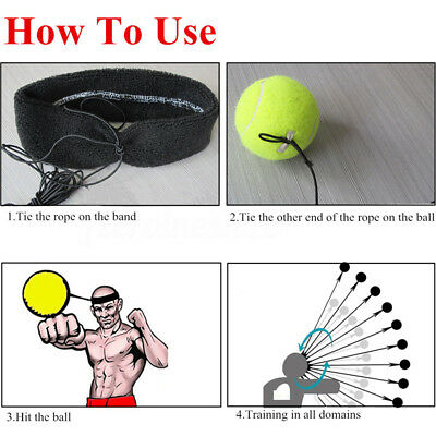 Fight Ball With Head Band Reflex Speed Training Boxing Punch Exercise Sports