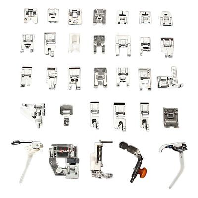 32PCS/Set Presser Sewing Machines Feet Snap On Sewing Domestic Tools Easily use