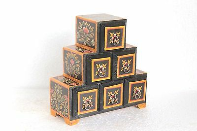 Wooden 6 Drawer Chest New Antique Style Handpainted Handicrafts Collectible W-11
