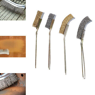 Stainless Steel Brush Removing Rust Cleaning Descaling Rub Pot Kitchen Tools C