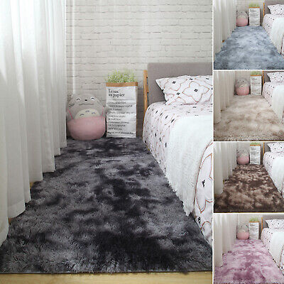 Fluffy Shaggy Area Rugs Anti-Skid Living Room Home Floor Mat Carpet Decor 3CM