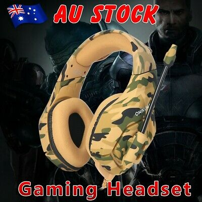 3.5mm ONIKUMA K1 Mic Gaming Headset Stereo Headphone for PC Laptop PS4 Xbox One