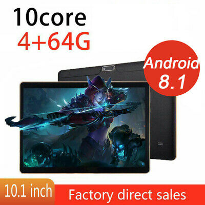 10.1 pollici 4GB+64GB Tablet PC bluetooth Android 8.1 Octa 10 Core dual Sim GPS
